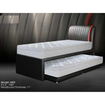 Single Divan Bed With Pull Out 03 And Mattress