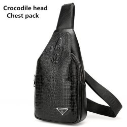 3D Crocodile Men Chest Pack Leather Travel Men S Crossbody Bags Male Shoulder Bag For Men Back Bag Rucksack Men Clutch Purse Slingbag