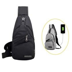 2020 Paket Dada Pria Baru Cross Body Bag Bahu Crossbody Bag Portable Canvas Hiking Travel Backpack Daypack