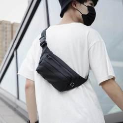 Casual Canvas Men Waist Bag Shoulder Sling Bag