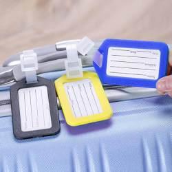 Aksesori Alat Klasifikasi Anti Hilang 9X5Cm dengan Tali Penanda Bagasi Perjalanan Asrama DIY