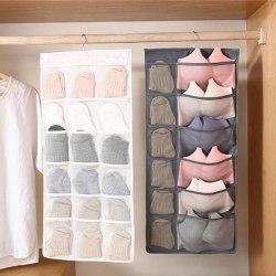 15/24/30 PocletReticulate Gantung Pakaian Organizer untuk Lemari Pakaian Pintu/Dinding Bernapas Bra Tas Galanya dengan Gantungan Baju kantong