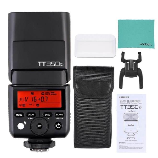 GODOX Thinklite TT350C Mini 2.4G Nirkabel TTL Kamera Blitz Master & Budak Speedlite 1/8000 S HSS untuk canon 5D MarkIII 80D 7D 760D 60D 600D 30D 100D 1100D Digital X Kamera-Internasional