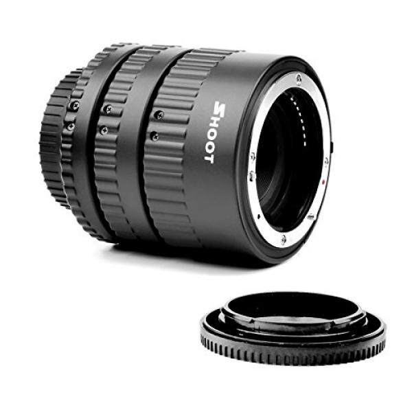 SHOOT Auto Focus Macro Extension Tube Set for Nikon D7200 D7100 D7000 D5300 D5200 D5100 D5000 D3100 D3400 D3300 D3000 D800 D600 D300s D300 D90 D80 Digital SLR Cameras - intl