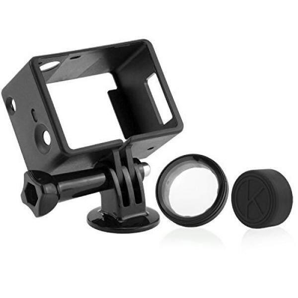 Camkix Bingkai Dudukan untuk GoPro dengan Layar/Ekstensi HERO 4, 3 + dan 3/Slot Yang Dapat Diakses-Ringan dan Kecil Rumah-Gunakan dengan LCD atau Ekstensi-Termasuk thumbscrew/Tripod Dudukan/Lensaa Tutup/UV Penyaring Lensa-Internasional