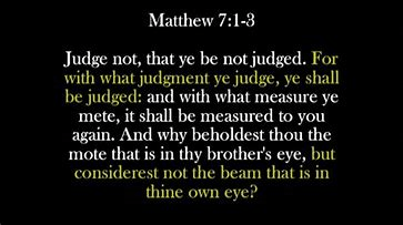 A Lesson in Judging others….