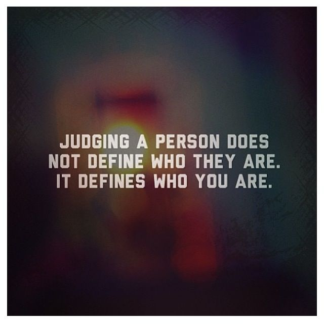 Judged by appearances