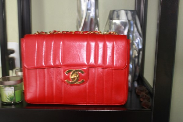 Chanel #12 - Red Lambskin with gold hardware