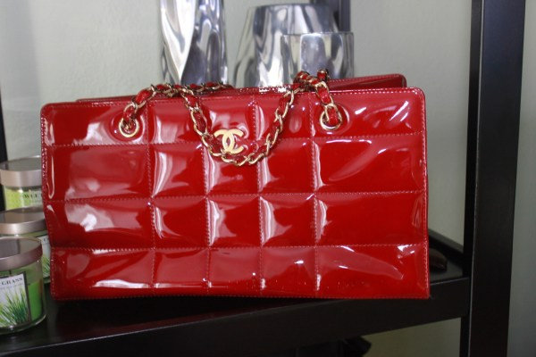 Chanel Handbag in Red Patent Leather