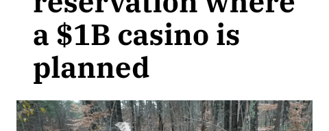 Tribal dispute over reservation where a $1B casino is planned