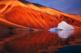 Melting iceberg on coast Qaanaaq, Greenland, Arctic.