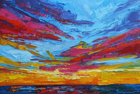 beach-tropical-sunset-modern-impressionist-palette-knife-oil-painting-patricia-awapara