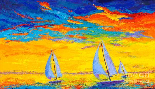 sailboats-at-sunset-colorful-landscape-impressionistic-art-patricia-awapara