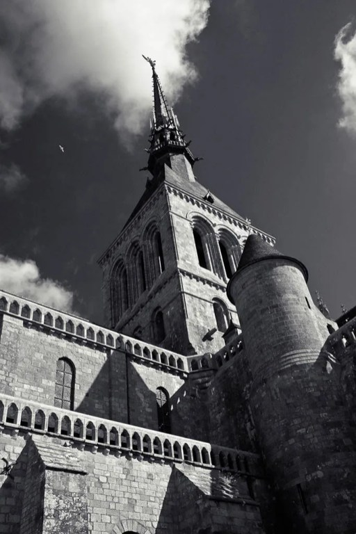 The abbey of Mont-St.-Michel, Normandy, France 4/08 (infrared)