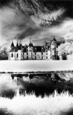 TMA396412 Chateau de Meillant, Loire Valley, France (b/w photo) by Marsden, Simon (b.1948); black and white photograph; The Marsden Archive, UK; (add. info.: Residence of the House of Amboise); PERMISSION REQUIRED FOR BOOK COVERS AND CALENDARS; English, in copyright