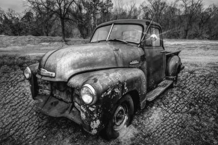 classic-chevy-pickup-truck-black-and-white-debra-and-dave-vanderlaan