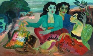 Tiga-Wanita-dan-Bunga-Hendra-Gunawan