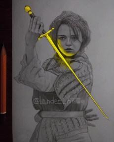 02-Arya-GoTc-Maisie-Williams-Chertkova-Lena-Game-of-Thrones-Glowing-Sketches-www-designstack-co