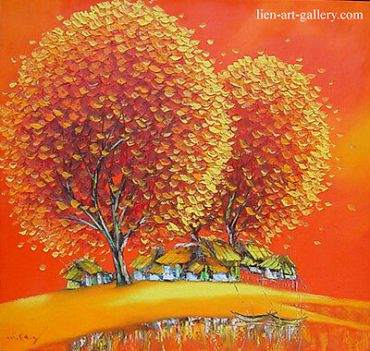 Warm-house-orig-oil-95x90cm-Son-Minh-Nguyen