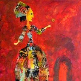 oeuvre-d-art-contemporain-valerie-depadova-femme-avec-une-fleur