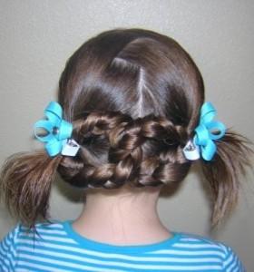 Прически для девочек на длинные волосы10