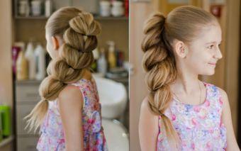 Прически для девочек на длинные волосы37