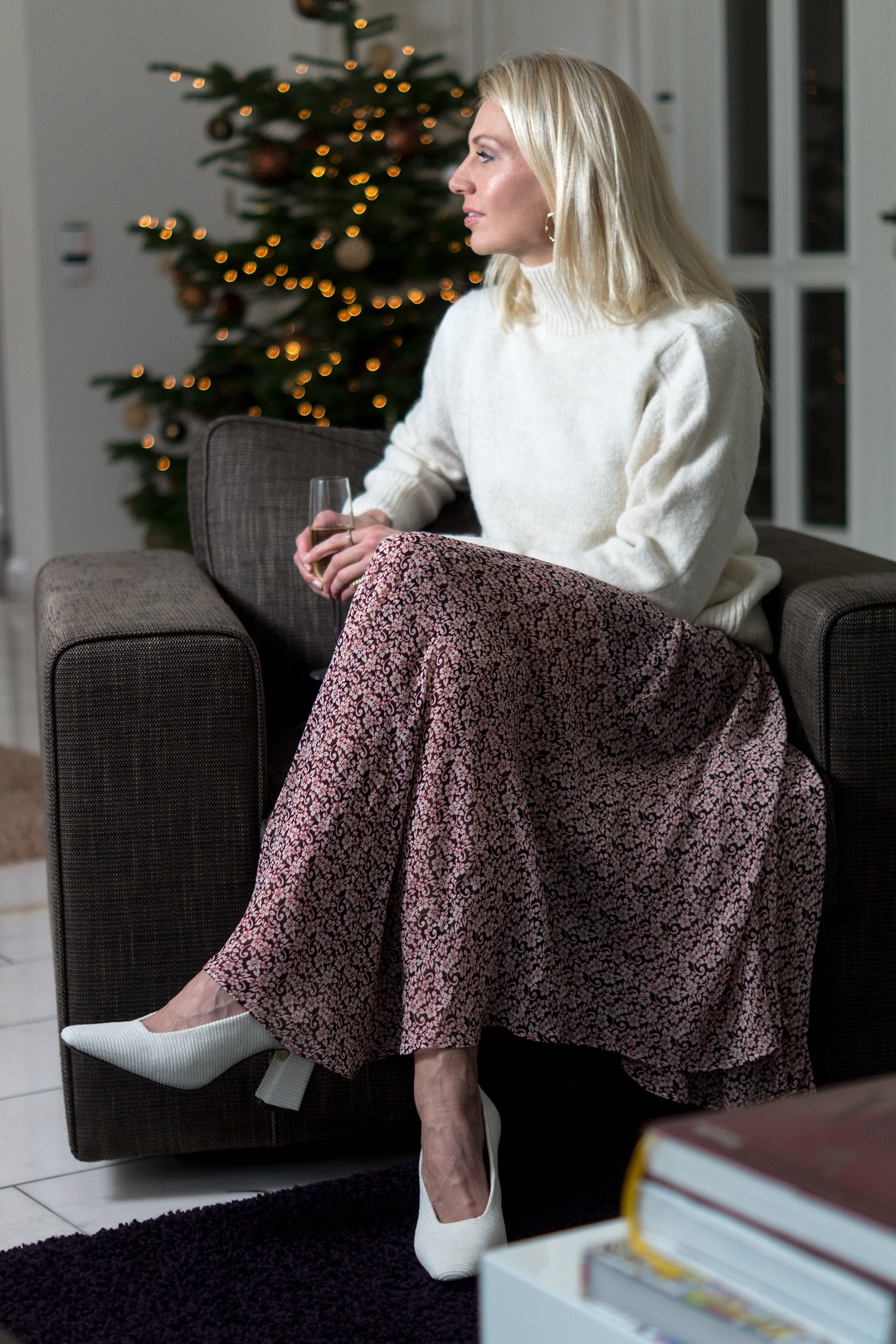 New Year's Look Maje dress and sweater