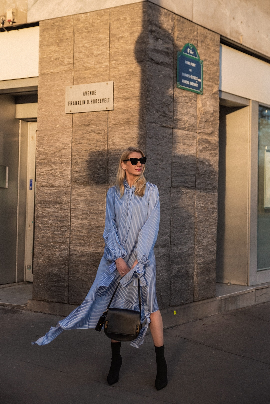 Rokh midi dress during Paris Fashion Week