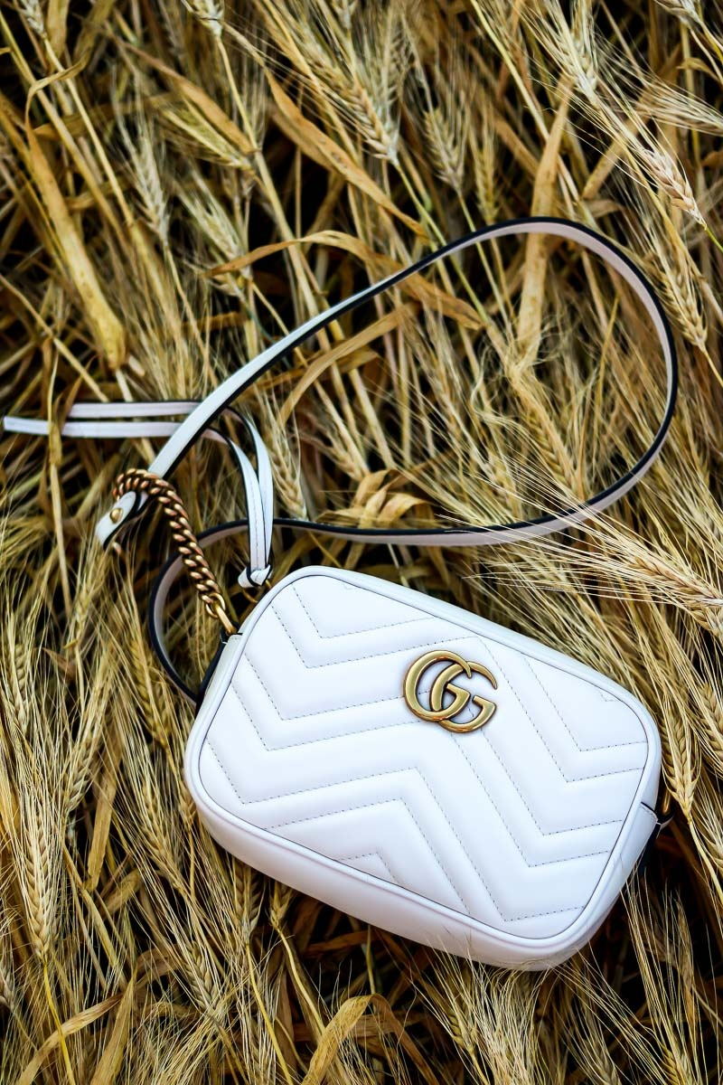 Gucci Marmont, Bag, Tasche, Crossbody, White, Mini