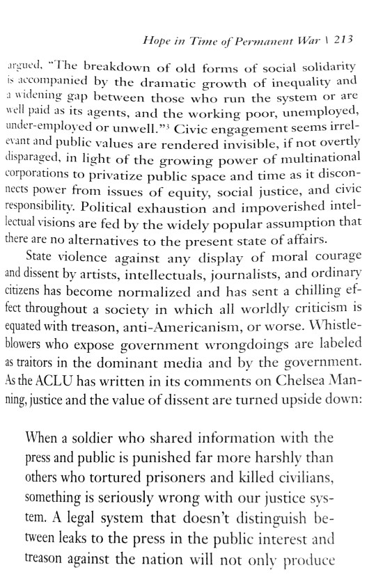 p. 213 text from The Violence of Organized Forgetting
