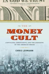the money cult book jacket with capitalism Christianity and part of money showing