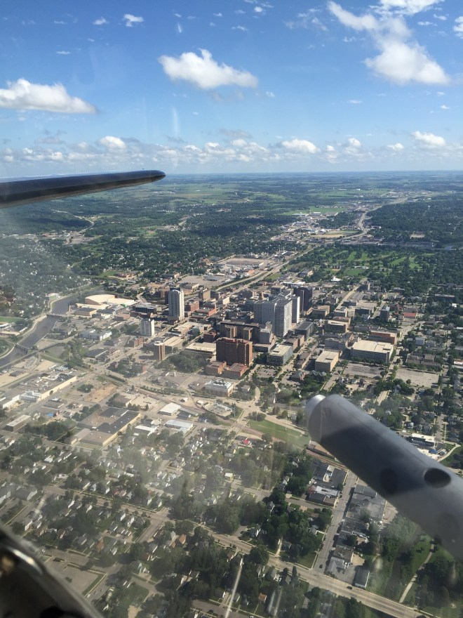 Flying in a B-17 over Rochester