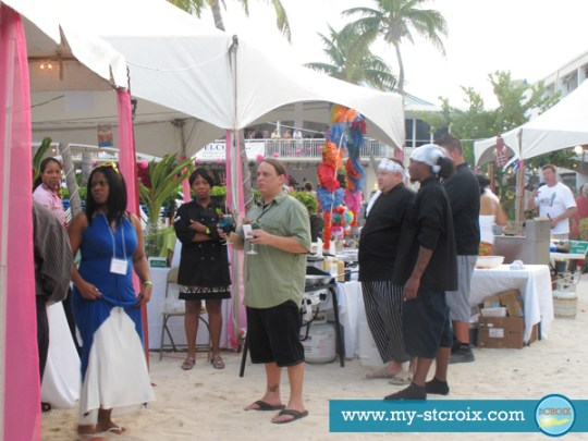 Taste of St Croix judges tent