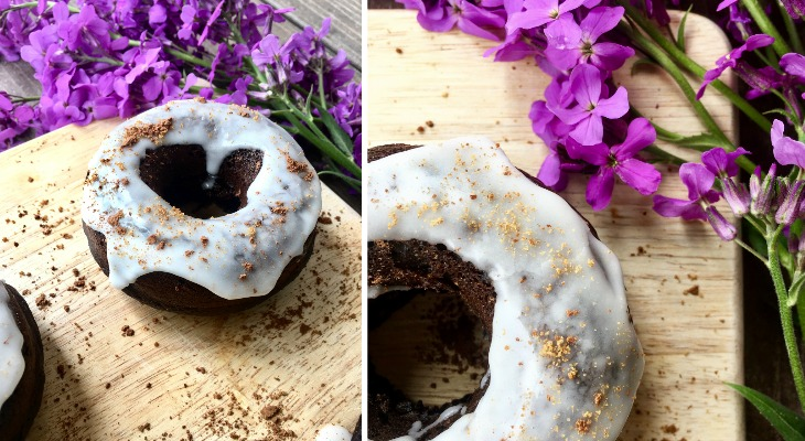10-Ingredient Healthy Chocolate Doughnuts