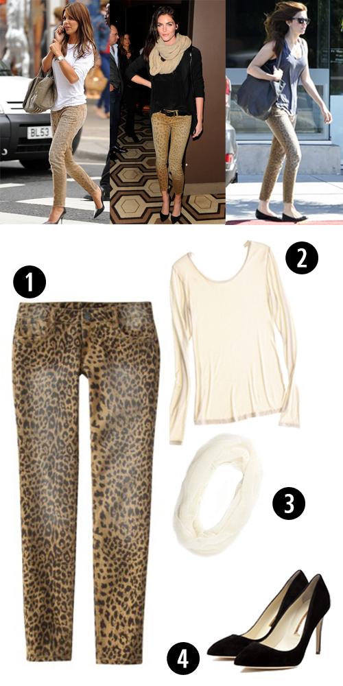 Leopard Print Jeans Trend