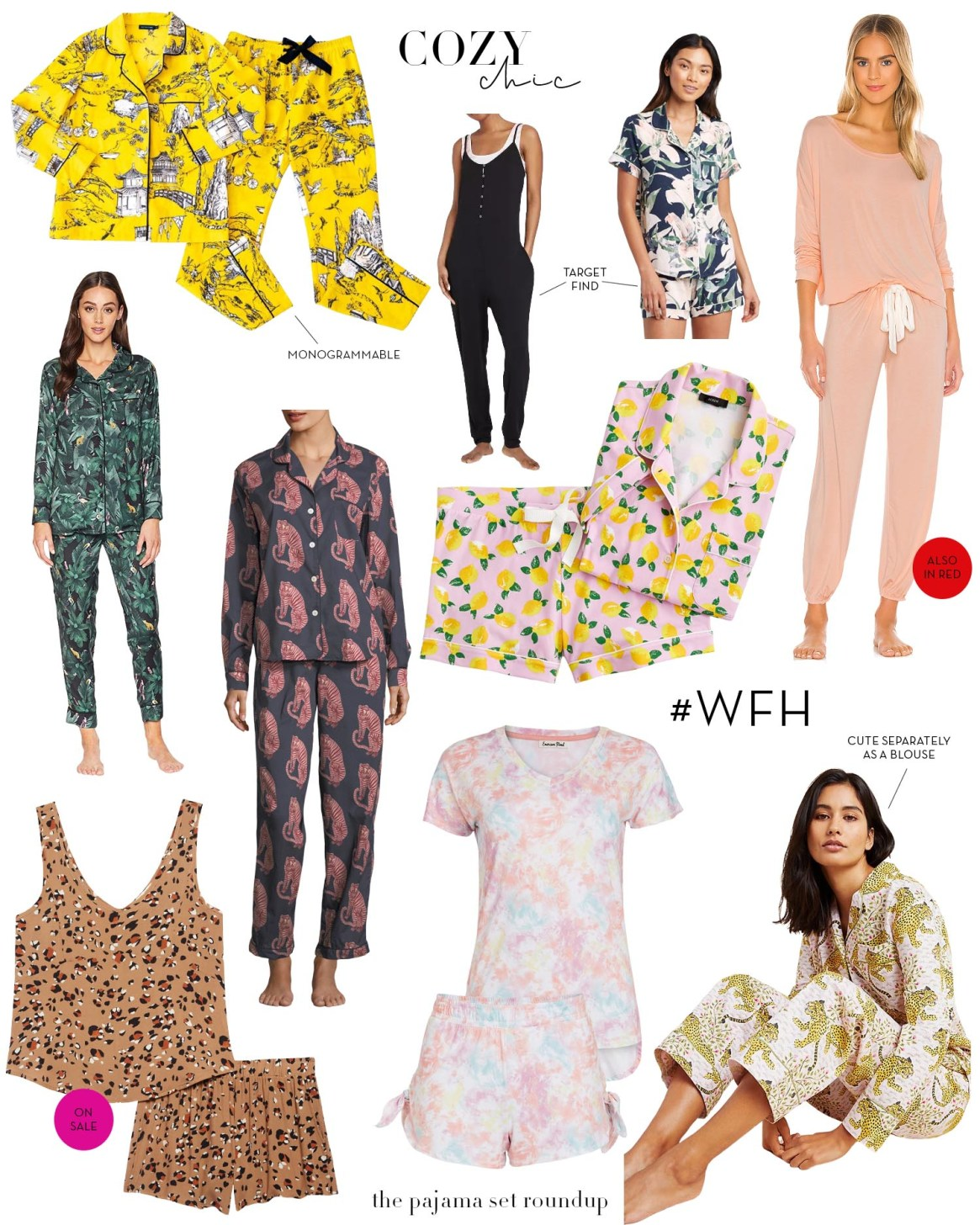 COZY CHIC- PAJAMA SET ROUNDUP