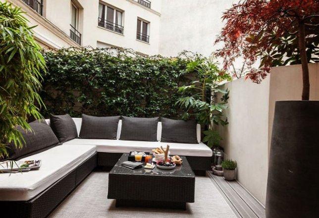 Parisian Apartment With A Cozy Veranda Design My Sweet House