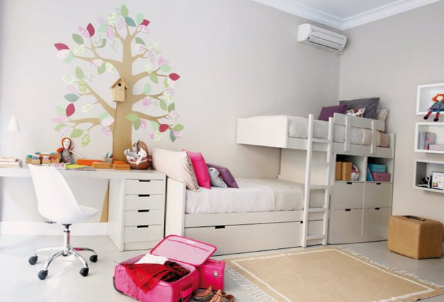 Bright Kids Room Designed For Two Girls My Sweet House