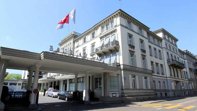 Отель Baur au Lac. Цюрих