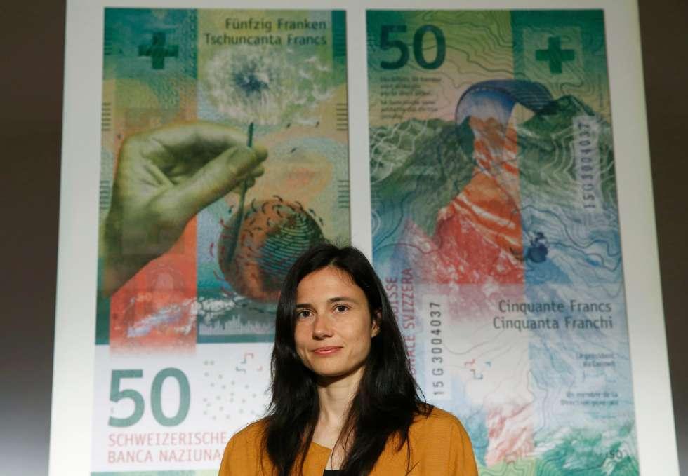 Дизайнер новых швейцарских франков Мануэла Пфрундер (Manuela Pfrunder)