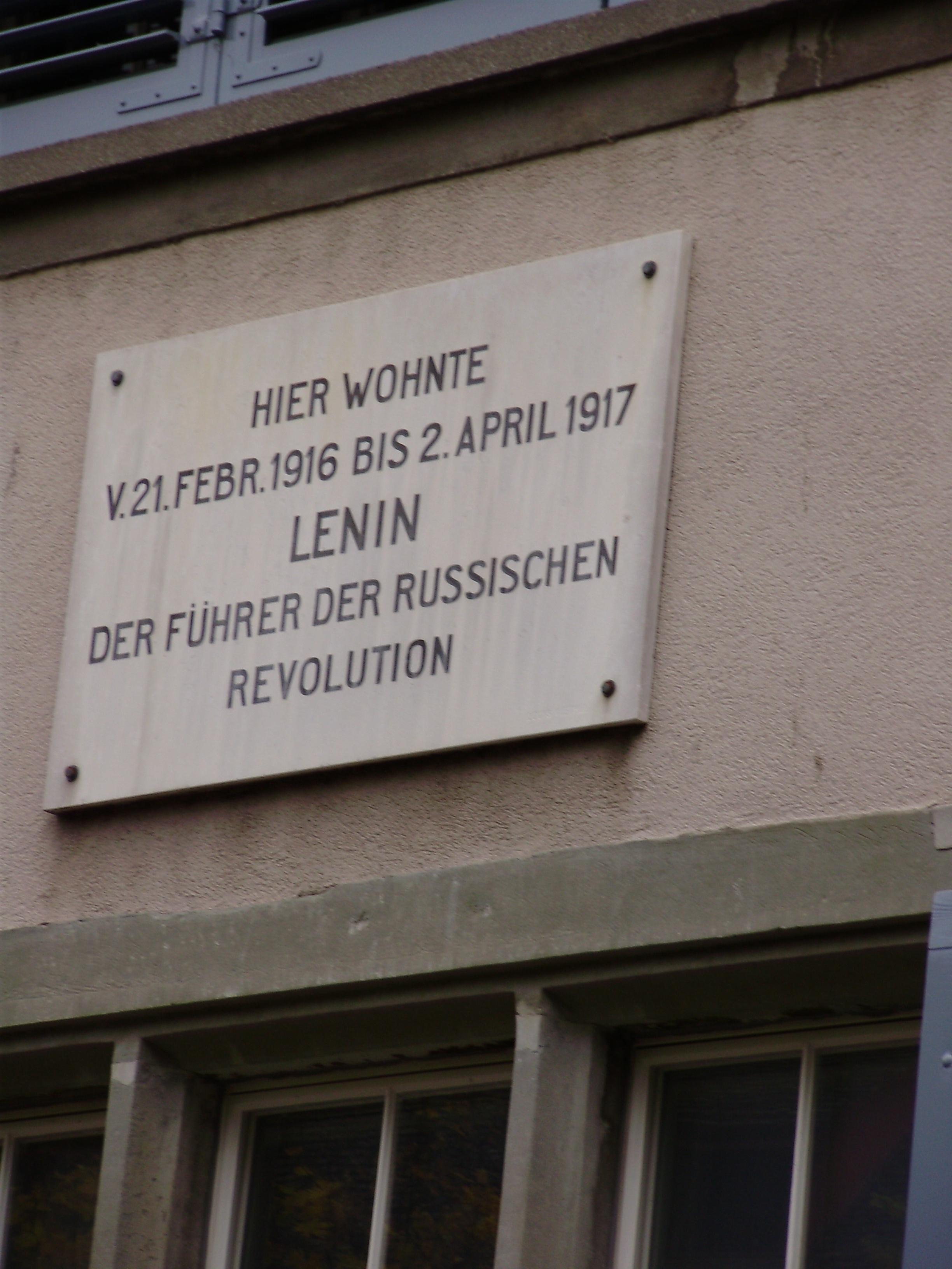 Нидердорф. Дом, в котором жил Ленин