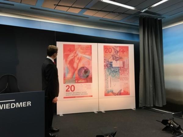 Новые 20-франковые купюры имеют 15 элементов защиты