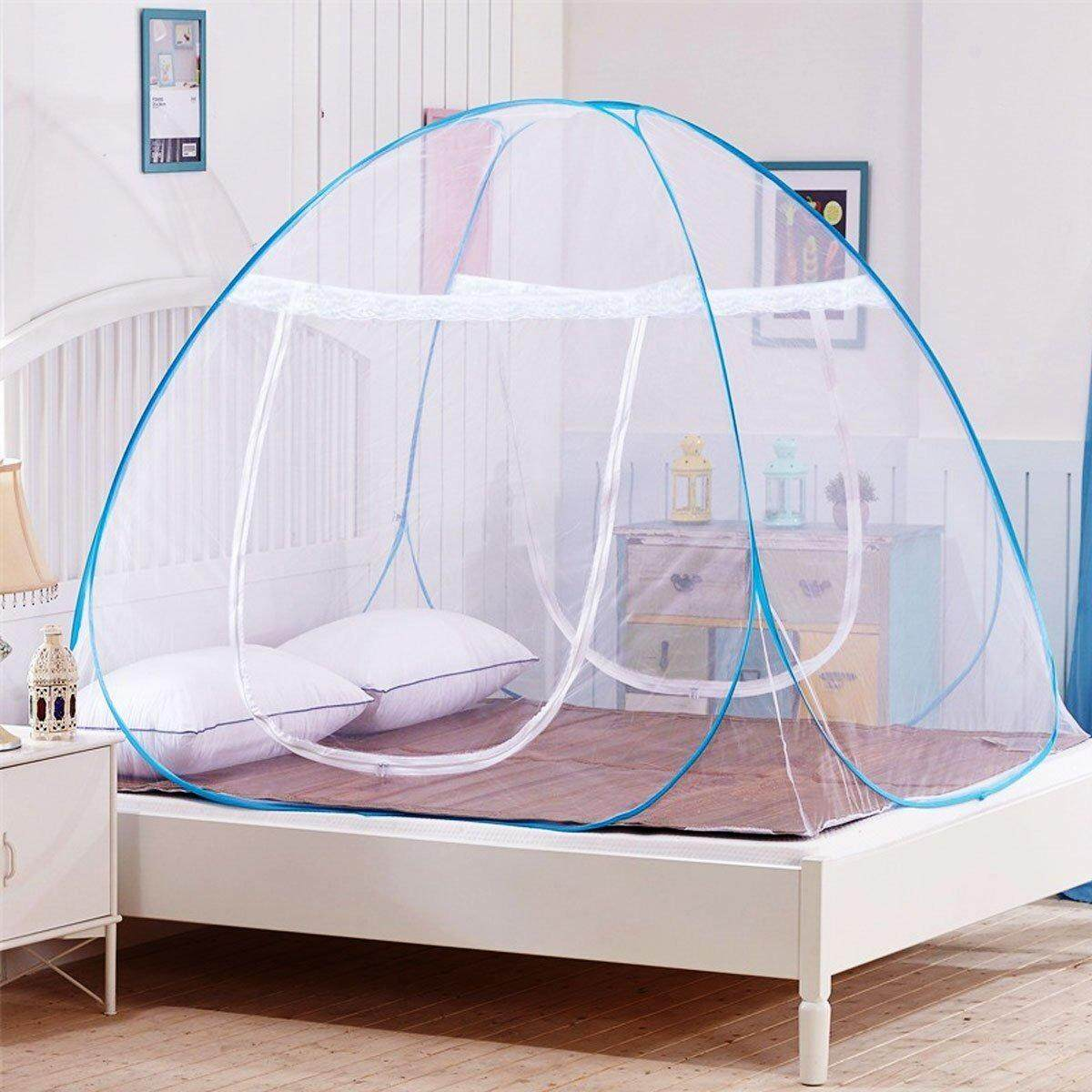 single bed 1 2m mosquito net tent for beds anti mosquito bites folding design with net bottom for babys adults trip 120cm 200cm 140cm intl
