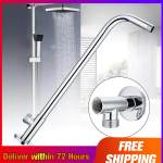 Wall Shower Head Extension Pipe Long Stainless Steel Arm Bathroom Home Lazada