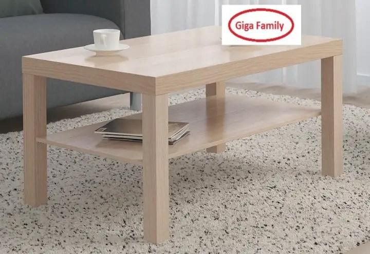 i k e a lack 118cm coffee table white black white stained oak