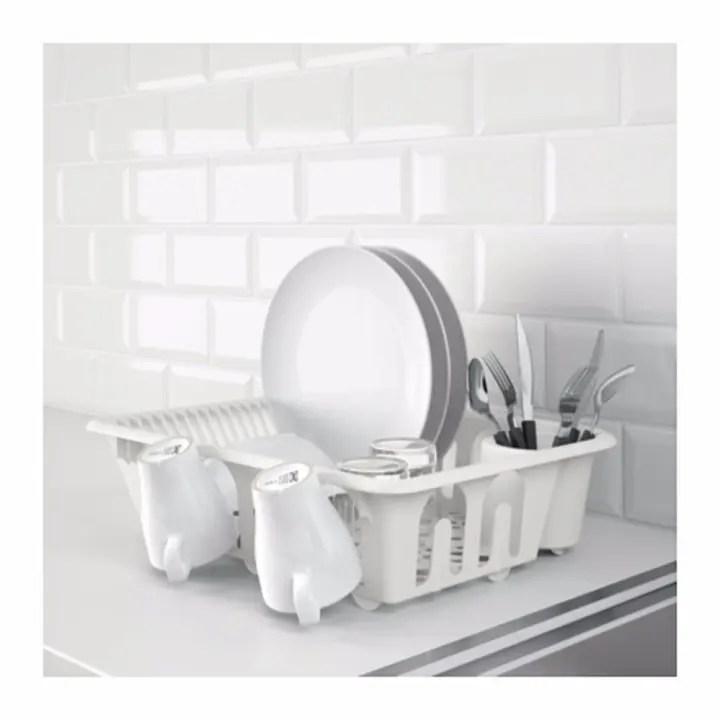 ikea flundra plastic dish rack dish drainer white