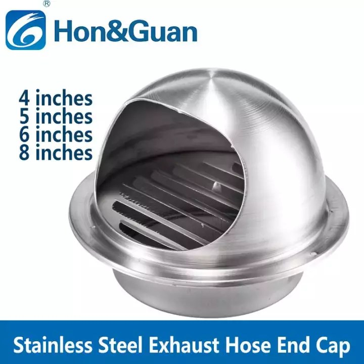 hon guan 4 8 round air vent duct grill extractor fan tumble dryer ventilation wall ceiling stainless steel exhaust duct cover outlet
