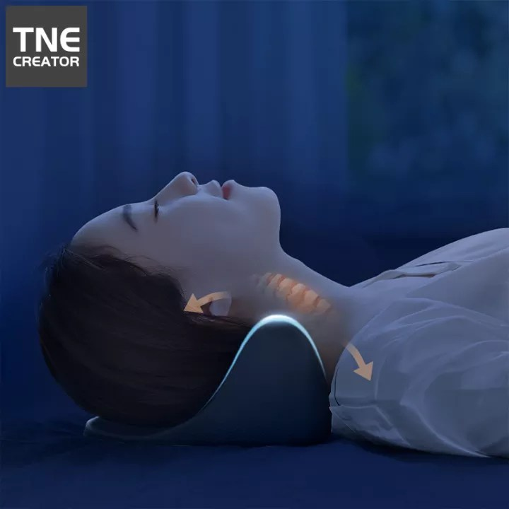 tne creator chiropractic pillow neck and shoulder relaxer cervical pillow neck traction device for pain relief management and cervical spine