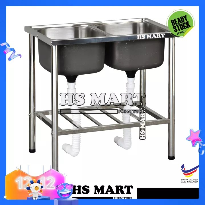 stainless steel double bowl sink with stand by hs sl16 diy stainless steel sink with kitchen sink stand kitchen rack stainless steel basin with