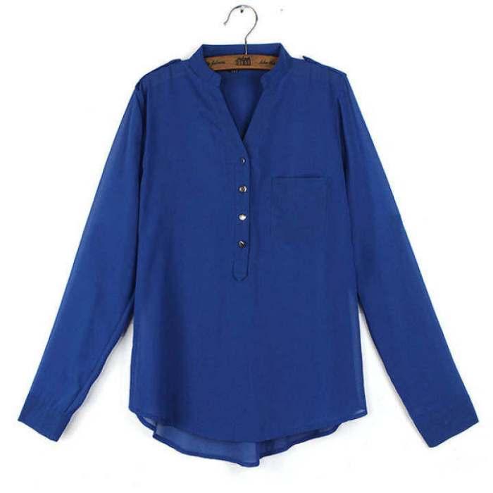 ZANZEA Womens Blouse Chiffon Casual Loose Shirt Lady Long